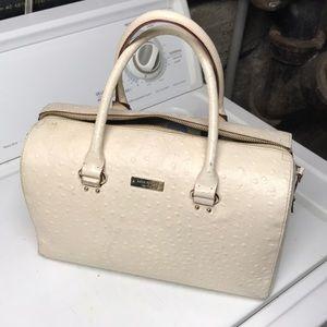 Cream ostrich Kate spade purse